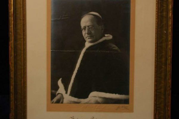Autographed Blessing of Pope Pius XI
