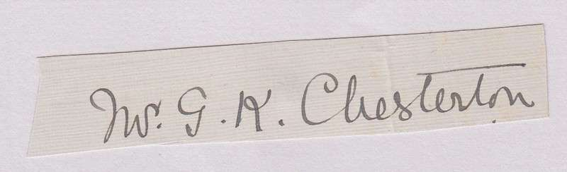 G. K. Chesterton Signature From an Envelope