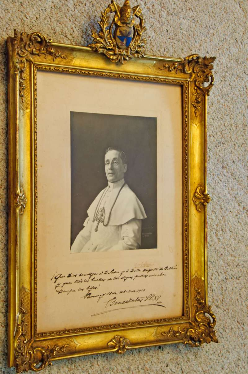 Portrait of Pope Benedict XV in a Presentation Frame with Signature