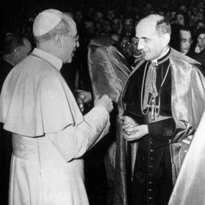 Pope Pius XII and Giovanni Montini, the Future Pope Paul VI