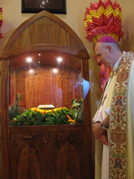 St. Damien Relic in the Cathdral , Our Lady of Peace, Honolulu