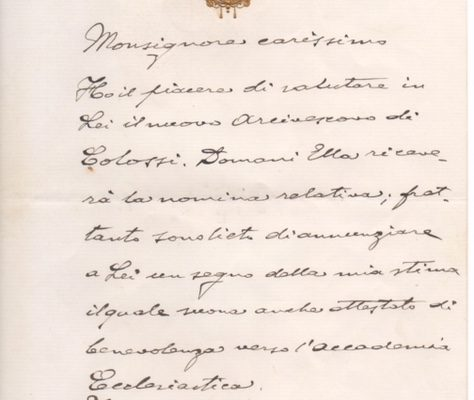 Pope Benedict XV: A Letter Written & Signed by the Pope Entirely in His Own Hand