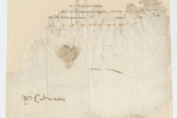 Pope Leo X: A Signature from 1506 as Cardinal