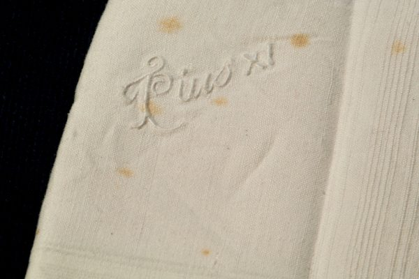 Pope Pius XI: A Handkerchief with Embossed Signature