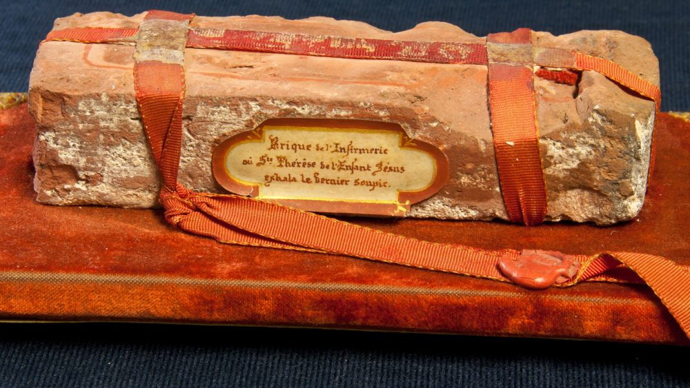 St. Therese of Lisieux: A Brick from the Infirmary from Where She Died