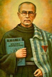 Saint Maximilian Kolbe in Prisoner's Garb