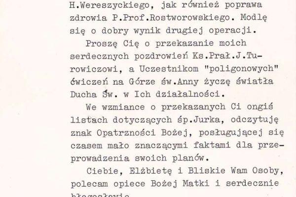 Letter from  Saint John Paul II,  Signed, Wujek, 1985