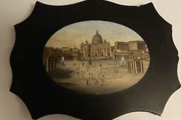 Pope Pius IX: A Micro-mosaic Scene of St. Peter's Basilica