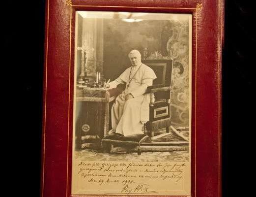 Presentation Frame Signed by Saint Pius X
