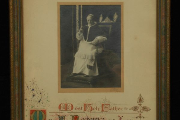 Pope Pius XI: A Framed, Signed Blessing