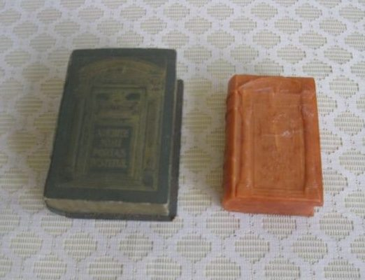 Pope Pius XI: 1925 Holy Year Souvenir of Hand Soap in a Carrying Case in the Form of a Book