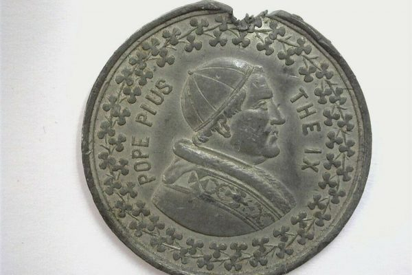Blessed Pius IX: 1877 Papal Medal for the Crusade Against Drunkeness